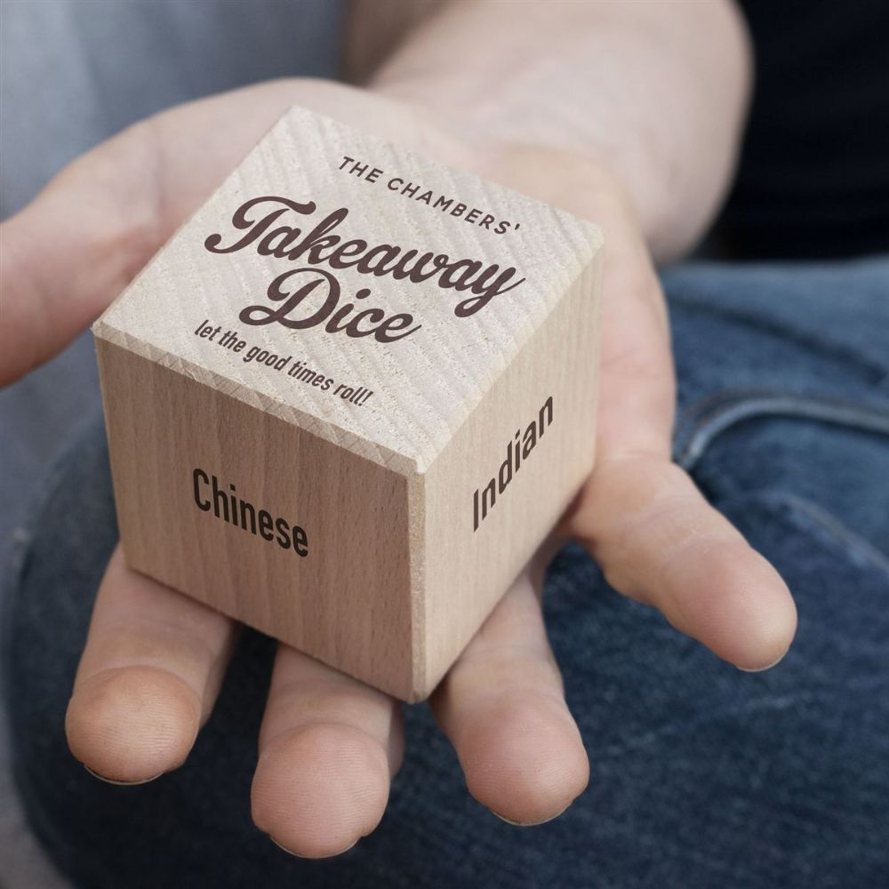 Personalised Takeaway Food Dice